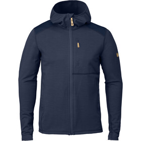 Fjällräven Keb Fleece Hoodie Heren, storm/night sky